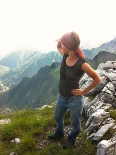 Utsikt fra det bratte fjellet Grondilice.